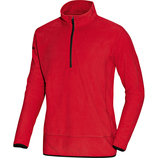 jako 7711 01 Fleece Ziptop Team rot/schwarz