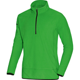 jako 7711 22 Fleece Ziptop Team soft green/schwarz